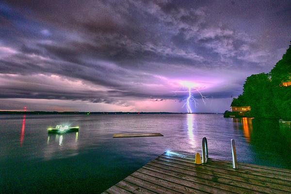 Lightning storm in HDR