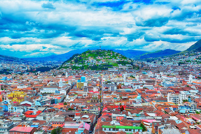 Quito from top of church HDR
