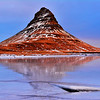 Jan 2017 -Mt Jirkjafell Iceland reflecting on ice