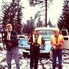 Frank Raymond, Dave Yaden, Sr. (Age 40) & Dave Yaden, Jr. (Age 13) - 1961 (Fall) - Deer Warriors - Washington State - From the Bernard Shaw 35 MM Slide Collection