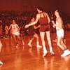 Dave Yaden, Jr. - 1964 (Jan) - Age 15 - White jersey, far right - Selah High School basketball game at Selah gymnasium - Selah, WA - From the Byron W. Yaden 35 MM Slide Collection