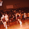 Dave Yaden, Jr. - 1964 (Jan) - Age 15 - #10 in white jersey, 2nd from left - Selah High School (Vikings) basketball game at Selah gymnasium - Selah, WA - From the Byron W. Yaden 35 MM Slide Collection