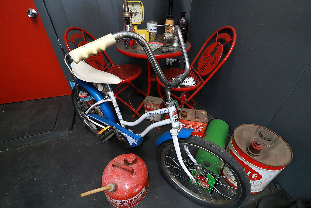 . Dave LaPlante owner of Big D\'s Auto Detailing in Fitchburg likes cars but also has a love for vintage toy\'s. At his shop in Fitchburg in a back room is where he keep many of the toys he has collected. LaPlante doesn\'t just collect toys. He also has was vintage bikes.  SENTINEL & ENTERPRISE/JOHN LOVE