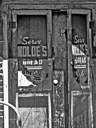 "Title: ""Nolde's Bread Sign - Tamworh Va Post Office/Store"" Place:Tamworth - Cartersville - Cumberland County VA Click ""Buy"" For Prints  Watermark will not print on your order  All photos available matted and framed: 5x7 -     $39 8x10 -   $49 11x14 - $69 16x20 - $149 All Photos Available In 5x7 Frameable NoteCards Signed By Dave Lynch  $3.95ea    10/$30 Email Your Order:  ArtGalleryRiverRd@gmail.com"