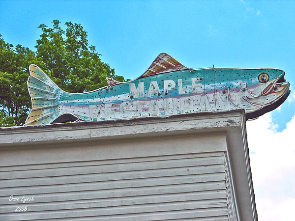 "Title: ""Maple Restaurant Sign"" Watermark will not print on your order"