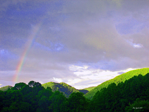 """""""July Rainbow - Glen Maury Park"""" Watermark will not print on your order"""