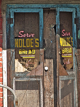 "Title: ""Nolde's Bread Sign - Tamworh Va Post Office/Store"" Place:Tamworth - Cartersville - Cumberland County VA Click ""Buy"" For Prints  Watermark will not print on your order  All photos available matted and framed: 5x7 -     $39 8x10 -   $49 11x14 - $69 16x20 - $149  All Photos Available In 5x7 NoteCards $4.95ea     5/$20  Email Your Order:  ArtGalleryRiverRd@gmail.com"
