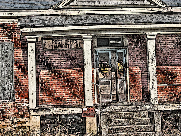"Title: ""Tamworh Va Post Office"" Place:Tamworth - Cartersville - Cumberland County VA Click ""Buy"" For Prints  Watermark will not print on your order  All photos available matted and framed: 5x7 -     $39 8x10 -   $49 11x14 - $69 16x20 - $149  All Photos Available In 5x7 NoteCards $4.95ea     5/$20  Email Your Order:  ArtGalleryRiverRd@gmail.com"