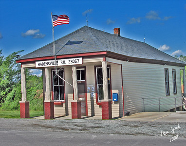 "Title:  ""Hadensville Post Office""  Watermark will not print on your order"