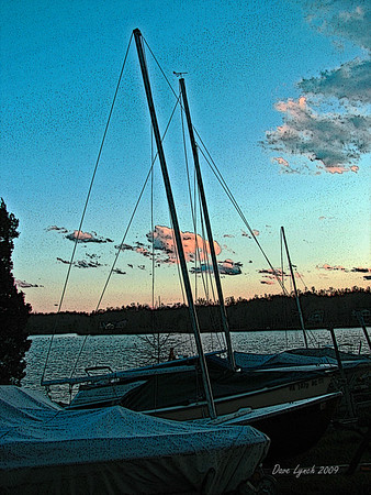 "Title: ""Docked At Sunset"" Watermark will not print on your order"