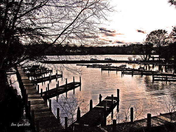 """Title:   """"Sunset On Lake Monticello"""" Watermark will not print on your order"""