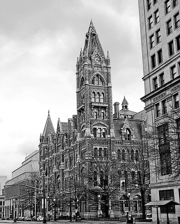 Old City Hall, known formerly as City Hall, is the former city hall of Richmond, Virginia that was designed by Elijah E. Myers. It served as City Hall from its completion in 1894 through the 1970s. The building occupies its own city block in downtown Richmond, bounded by 10th and 11th Streets to the west and east, and Capitol Street and East Broad Street to the south. The building is executed in a meticulous Gothic Revival style.