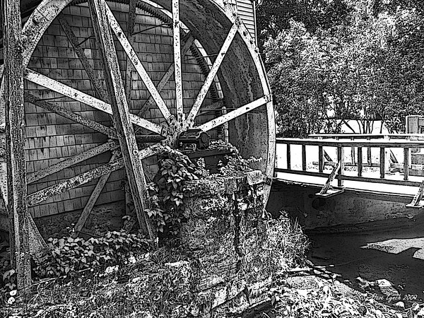 """Grist Mill Circa 1900"" Warm Springs, Va"