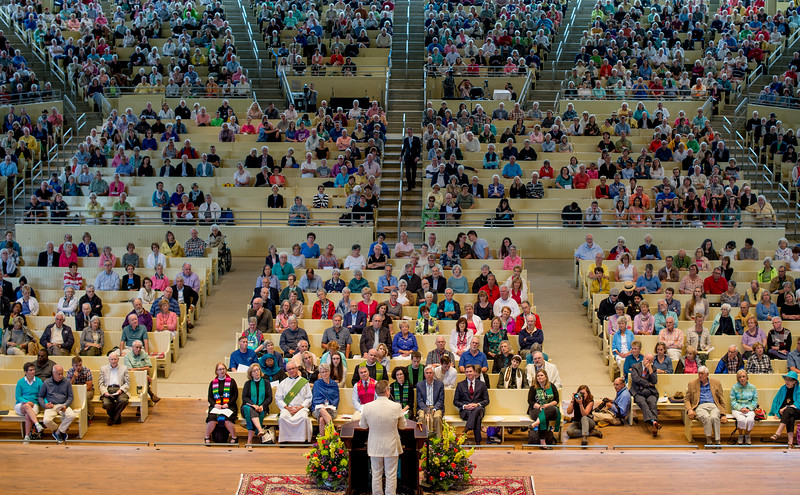President Michael E. Hill delivers his Three Taps of the Gavel Address to open the 2017 season during Sunday's Morning Worship service June 25, 2017 in the Amphitheater. DAVE MUNCH/PHOTO EDITOR