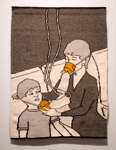 """Mother and Child Inhale"" by Erika Diamond is displayed in her show ""Staying Alive"" June 27, 2017 at Strohl Art Center."
