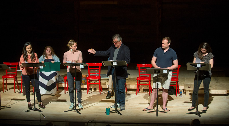 "Cast members perform during a rehearsal for a pre-season staged reading of ""Dan Cody's Yacht"" June 9, 2017 at Bratton Theater. Dave Munch 