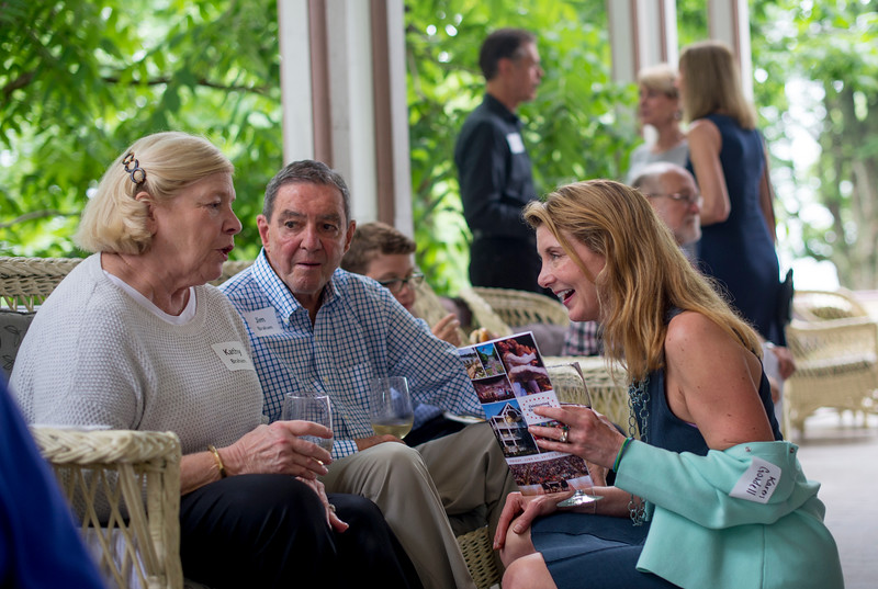 Karen Goodell, right, speaks with Kathy and Jim Braham during a celebration of the conclusion of the Promise Campaign June 23, 2017 at the Athenaeum Hotel. DAVE MUNCH/PHOTO EDITOR
