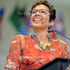 Former Girl Scouts CEO Anna Maria Chavez speaks on raising a new generation of leaders during her morning lecture on moral leadership Friday, July 15, 2016 on the Amphitheater stage.