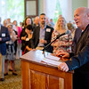 Former president Tom Becker speaks during a celebration of the conclusion of the Promise Campaign June 23, 2017 at the Athenaeum Hotel. DAVE MUNCH/PHOTO EDITOR