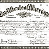 Betty Jean Shaw (age 19) & David Byron Yaden (age 26) - August 29, 1947 - Marriage Certificate - Yakima, WA