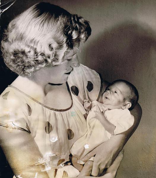 Betty Jean (age 23) & Susan Carol Yaden (age 1 month) - July 24, 1951 - Photo taken by the Yakima Herald Republic - Yakima, WA