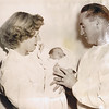 Betty Jean (age 23), Susan Carol (age 1 month), & Dave Yaden, Sr. - July 18, 1951 - Children's Orthopedic Hospital - Seattle, WA - Photo taken by the Seattle Times newspaper