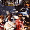 The Shaw Kids (minus Harriet) - 1962 - Twin Lakes camping excursion - Twin Lakes, WA (From the Bernard Shaw 35mm Slide Collection)<br /> <br /> L to R:<br /> <br /> Betty Jean (Shaw) Yaden - Age 34 - Born 12/31/1927<br /> Bernard Shaw - Age 42 - Born: 4/17/1920 - Died: 5/16/1998 at age 78<br /> Evelyn (Shaw) Raymond - Age 45 - Born: 9/22/1916 - Died: 2/1/2008 at age 91<br /> Harriet (Shaw) Weasea [not in photo] - Born: 2/21/1918 - Died: 2/1/2006 at age 87