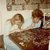 Janet (age 19) & Betty (age 43) Yaden - 1970 (Dec) - Selah farmhouse - Selah, WA