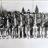 Pauli Yaden (front row, 4th from right) & head coach Betty Yaden (back row, far right in sunglasses) - 1977 - Selah High School tennis team - Selah, WA