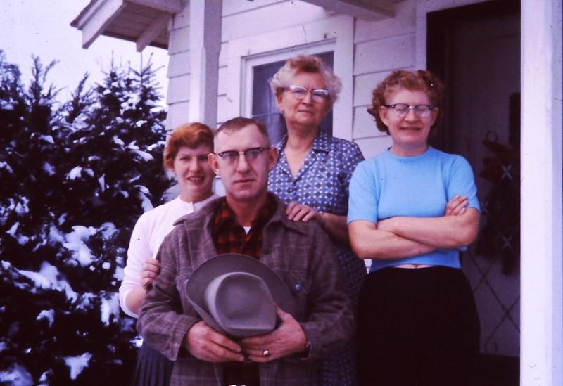 Grandma Vic with Mom, Uncle Bernard, and Aunt Harriett - 1958