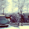 """Bernard Shaw Trailer Home - 1960 (4th qtr.) - Quincy, WA - Uncle Bernard labeled this the 'Winter Home' - From the Bernard Shaw 35MM Slide Collection<br /> <br /> Note from Mark Yaden:<br /> <br /> Uncle Bernard Trailer Home (the rest of the story...)<br /> <br /> Hey Dan - that's the trailer where I had an over-night with Uncle Bernard, and wet the bed all over him!!  I have the image burned in my brain of him getting out of bed hollering because he was soaked in pee in his long underwear!  Being he was dressed in his long underwear, it must have been winter and would have been about 1960 because I was about 5 years-old.  Boy, do I remember him struggling to pull the underwear off that was stuck to his body.  He, he, he...<br />  <br /> Uncle Bernard didn't get mad and laughed it off.  However, I don't remember being invited back to stay.  And, after that """"wash-down"""", Uncle Lester kept telling me if I ever stayed at his house I'd have to sleep in his bath tub.  I didn't get too many slumber party invitations after that. <br />  <br /> Mom - Sorry for wearing out at least 2 or 3 washing machines as you dealt with wet sheets most mornings for a lot of years.  What a way to start out your day... I was blessed with you being a great sport and loving my """"rapid fire bladder, and all""""!  Hey,... maybe that's why I became a firefighter...extensive experience in hosing everything (and anybody that got in the way) down like it was on fire?!<br /> <br /> Mark"""