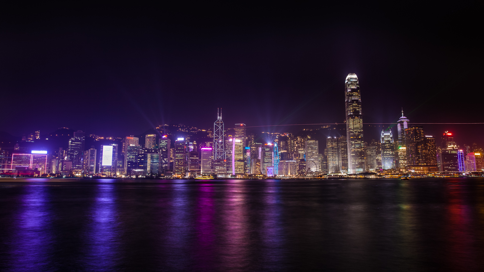 The famous light show from Harbour City Hong Kong
