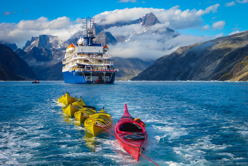 kayaks in Greenland