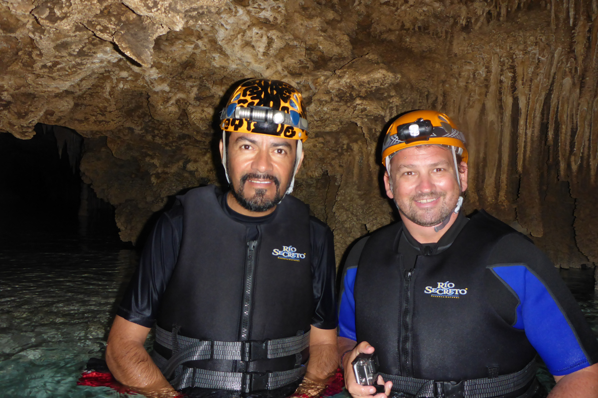 Dave and our guide Raul at Rio Secreto