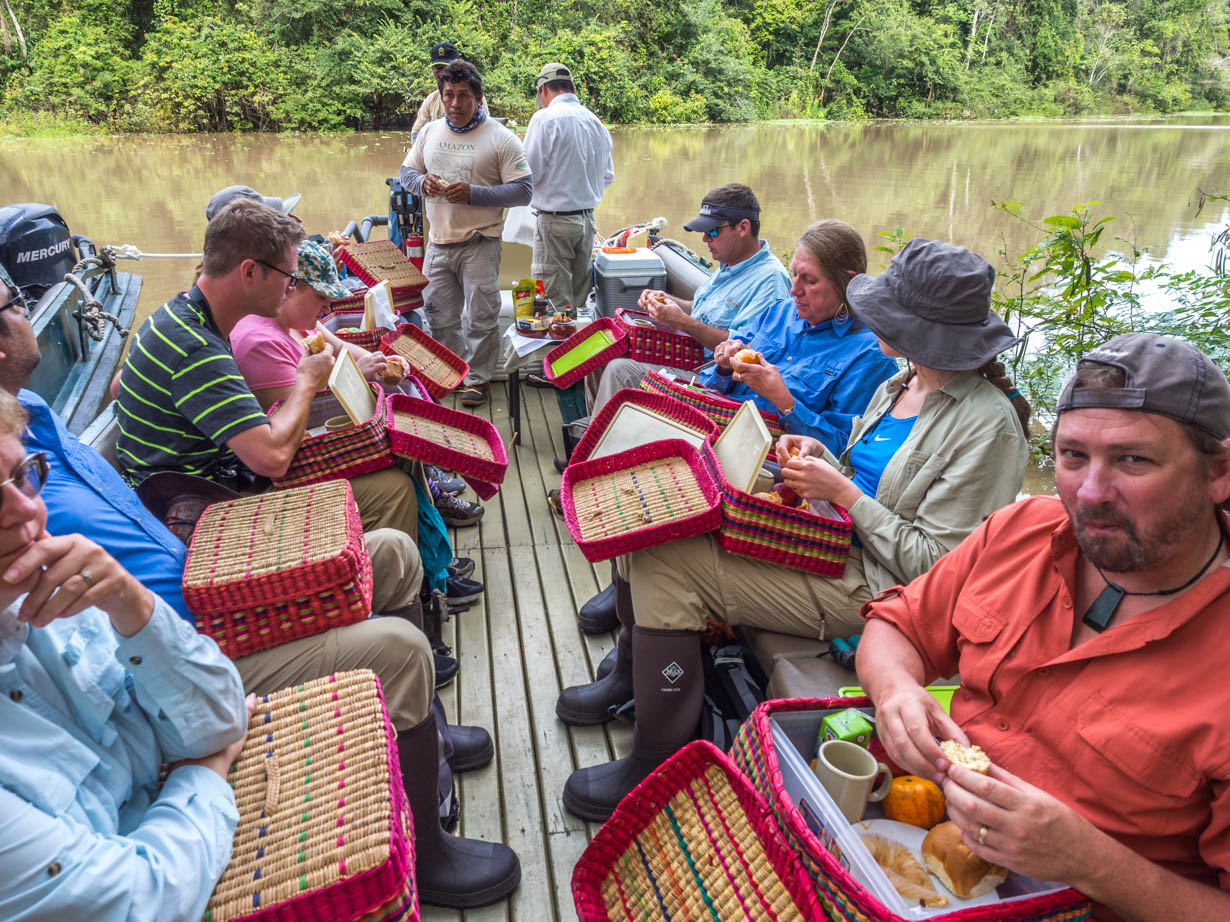 food on an amazon cruise
