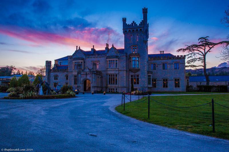 The beautiful Lough Eske Castle at Sunset.