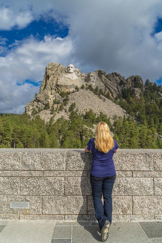 Enjoying the view of Mount Rushmore