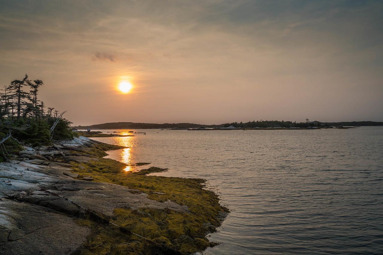 sunset in Nova Scotia