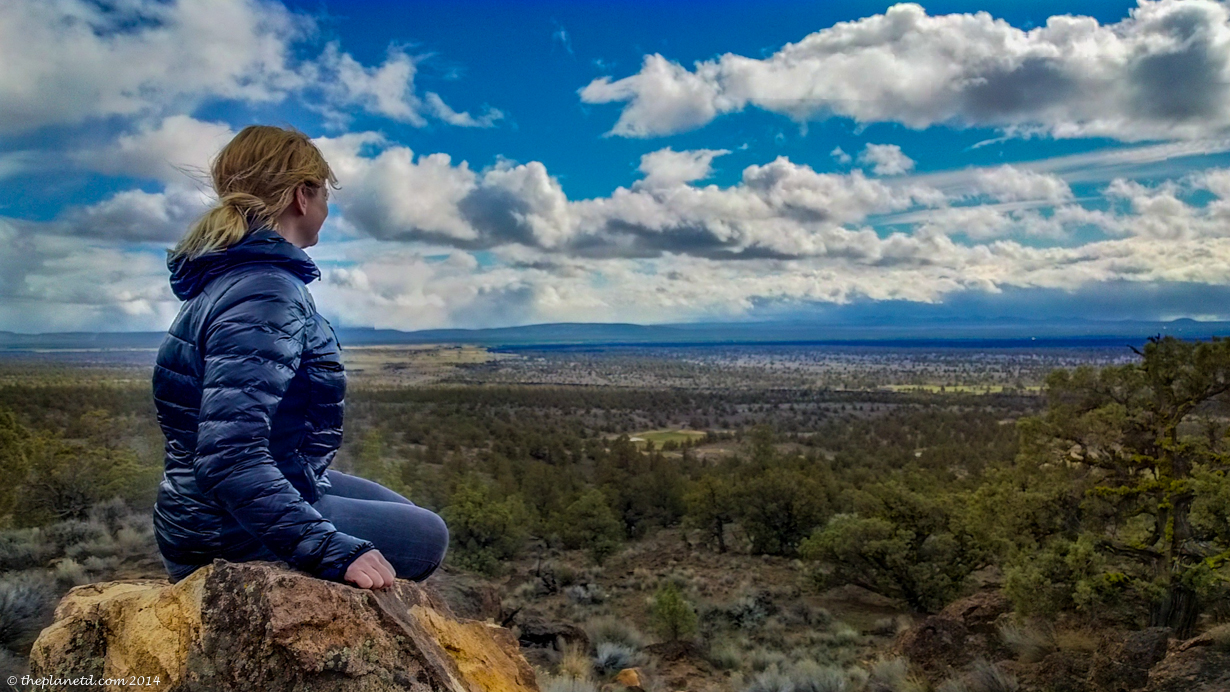 Taking in the view of the High Desert in Oregon