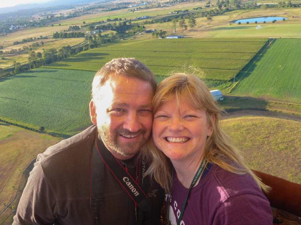 We enjoy the peacefulness of a Hot Air Balloon Ride.