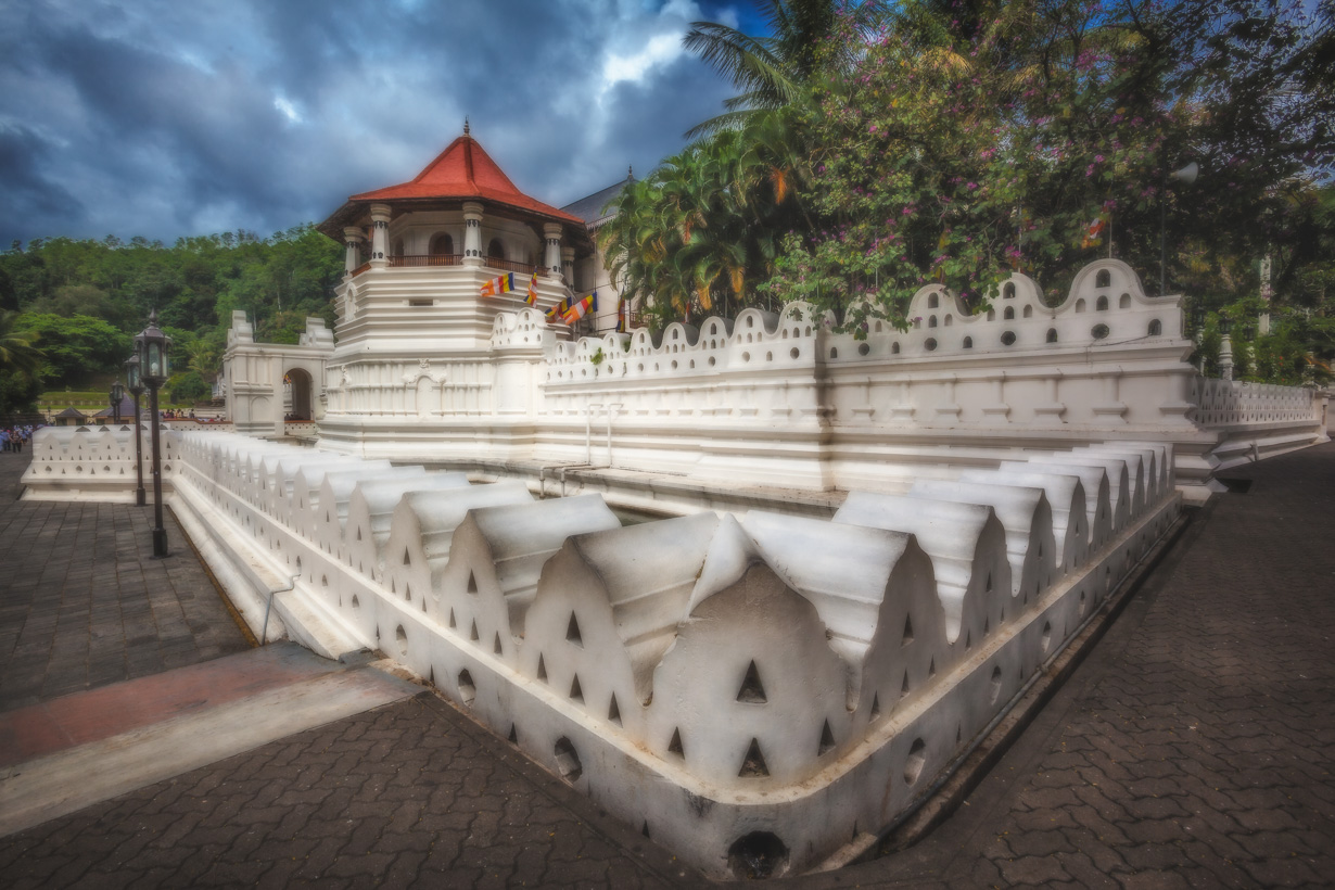 The Temple of the tooth in Kandy, Sri Lanka