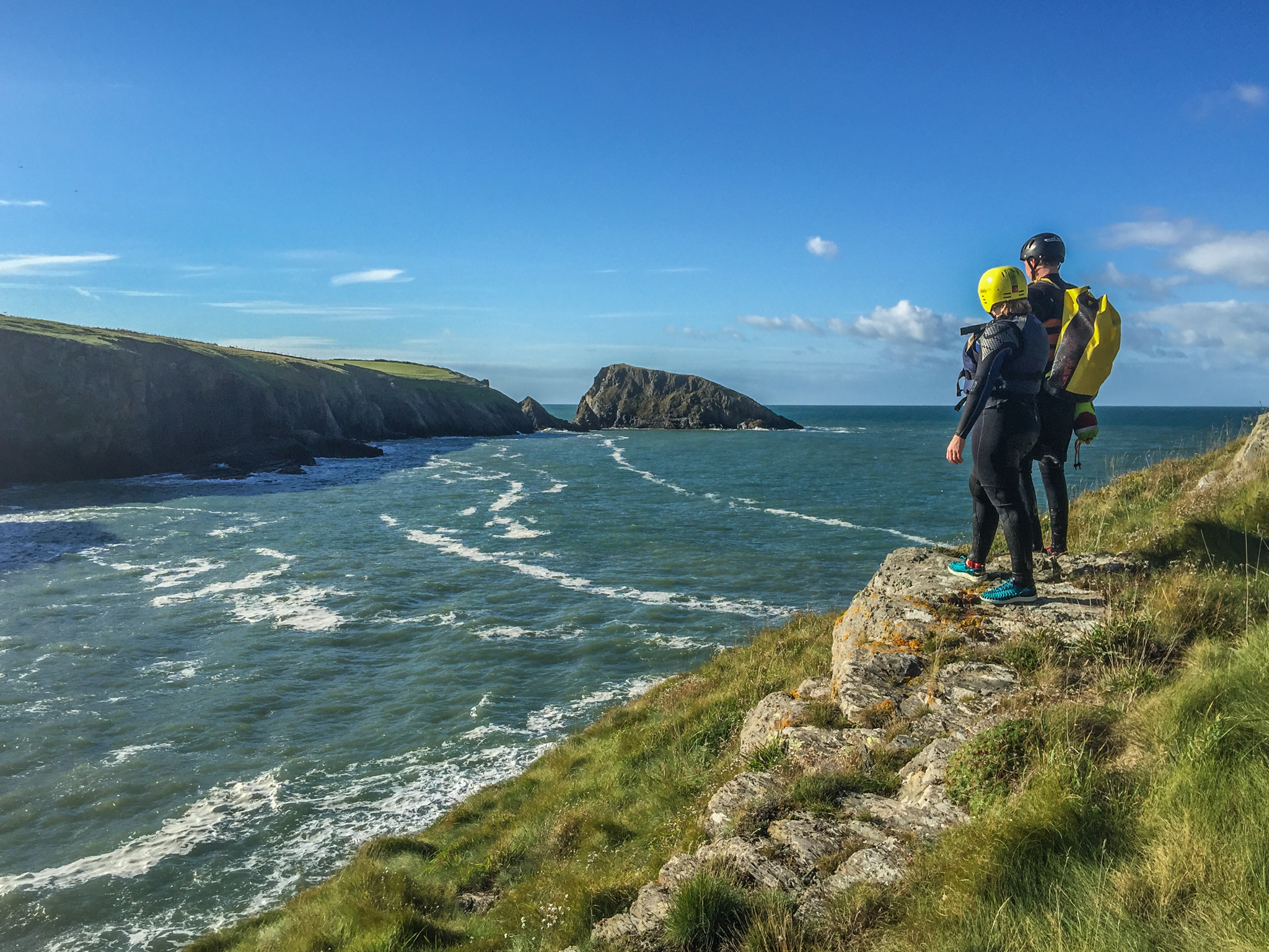 It was truly a great day Coasteering.