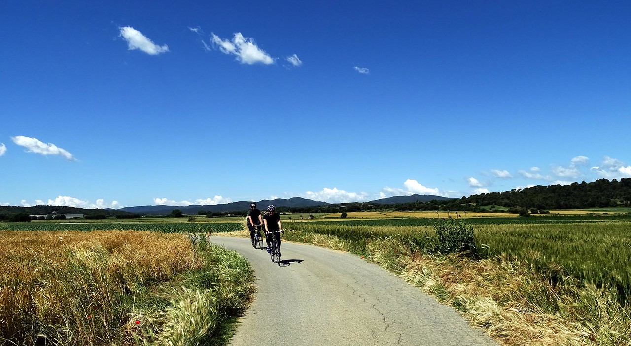 two cyclists in Spain