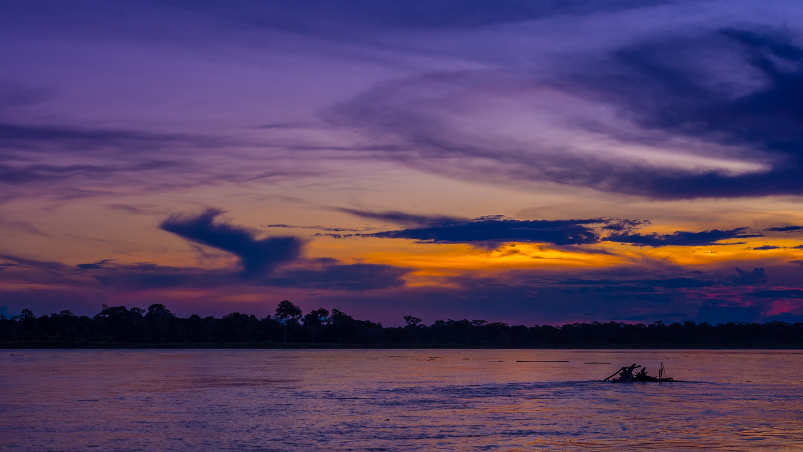 An Amazon Sunset