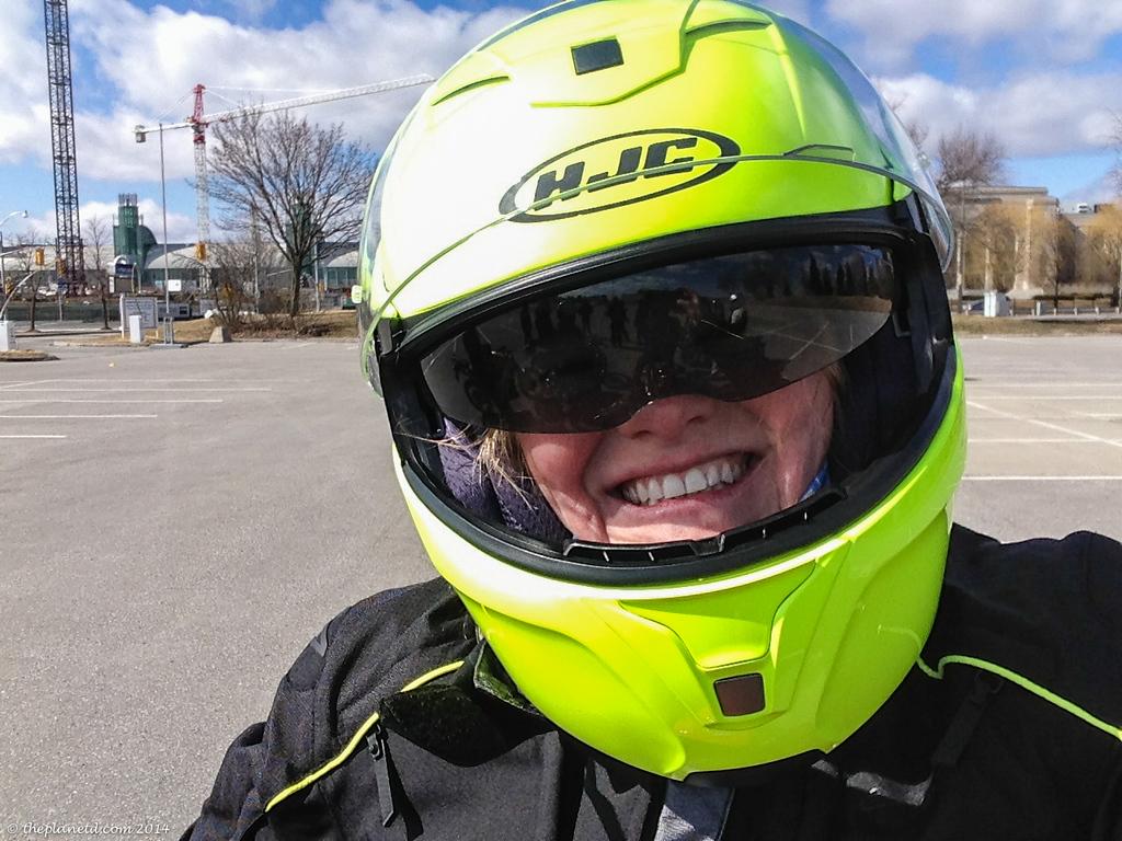 Gotta love that HJC Helmet!