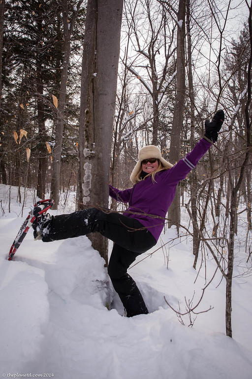 Snowshoeing fun at Algonquin Park