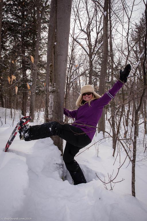 Snowshoeing fun at Algonquin Park