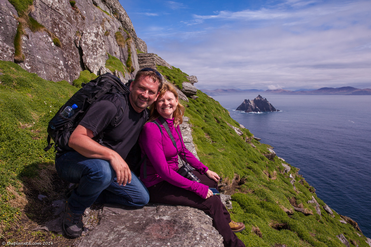 On our way up to Skellig Michael.