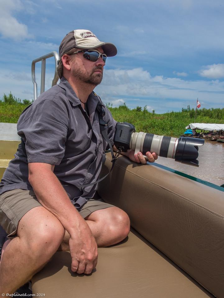 camera gear for an Amazon River safari