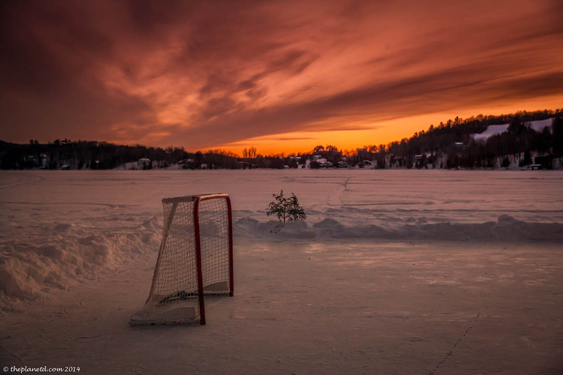 Hockey sunset at Cedar Grove Lodge